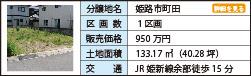 姫路市町田 1区画 950万円 133.17㎡(40.28坪) JR姫新線余部駅徒歩15分